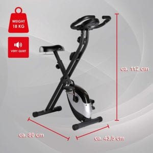Dimensions du vélo d'appartement Ultrasport F-Bike Heavy