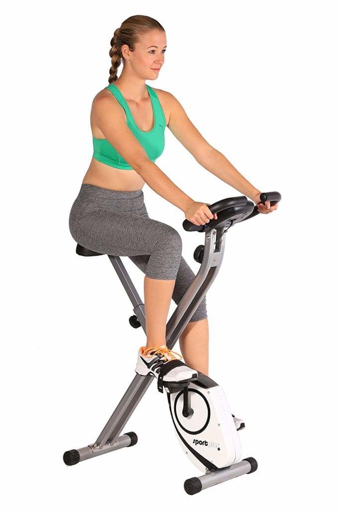 Le vélo d'appartement SP-HT-1002 de Sportplusest ultra compact. Parfait pour les petits espaces ou comme vélo d'appoint,