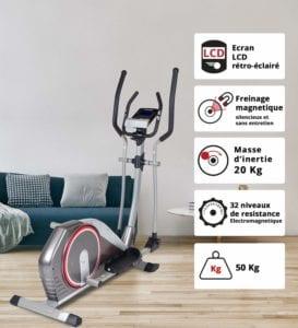 Vue D'ensemble Du Vélo Elliptique Motorisé Care Fitness Ce 690