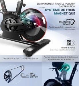 Résistance Du Vélo De Spinning Sportstech Sx600